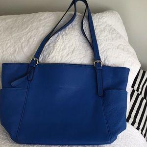 Soft soft blue leather bag